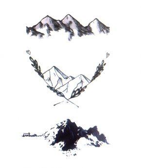 tatuaje temporal 3 mountains feel tattoo