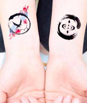 tatuaje temporal aguila del cosmos modelo feel tattoo