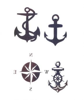 tatuaje temporal anclas feel tattoo
