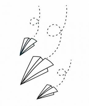 tatuaje temporal aviones papel feel tattoo
