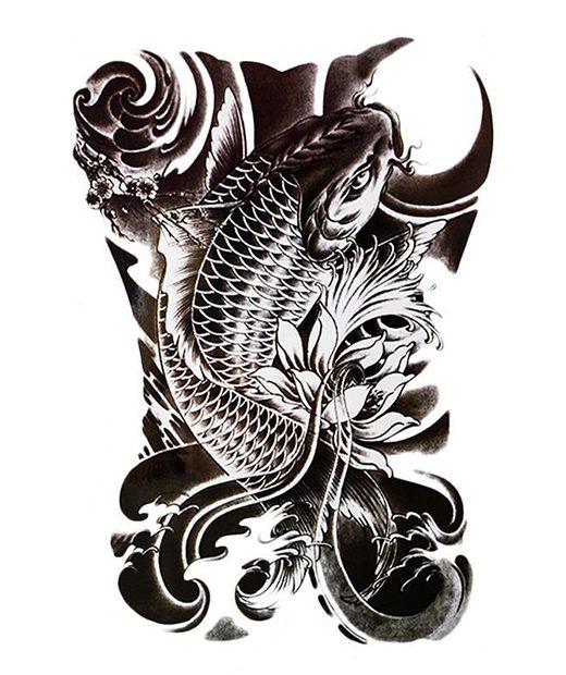 tatuaje temporal carpa feel tattoo