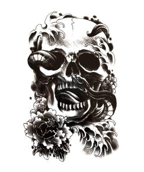 tatuaje temporal death snake feel tattoo