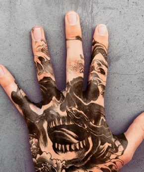 tatuaje temporal death snake modelo feel tattoo
