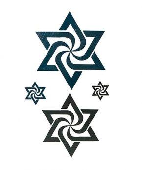tatuaje temporal estrella espiral feel tattoo