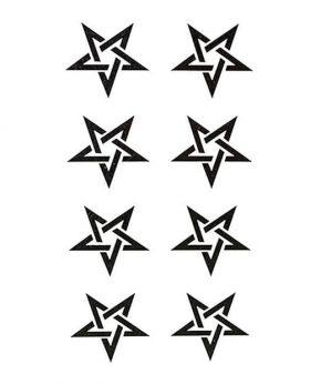 tatuaje temporal estrellas discontinuas feel tattoo