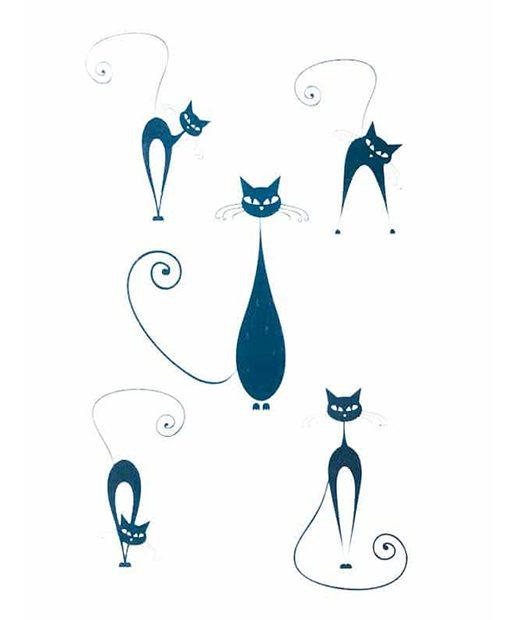 tatuaje temporal gato elegante feel tattoo