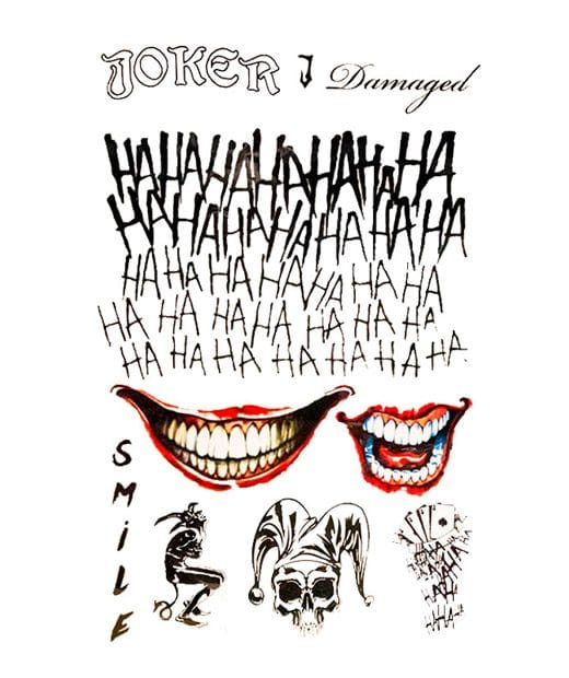 tatuaje temporal joker feel tattoo