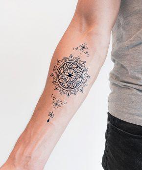 tatuaje temporal mandala margarita modelo feel tattoo