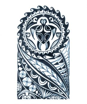 tatuaje temporal maori tortuga marina feel tattoo