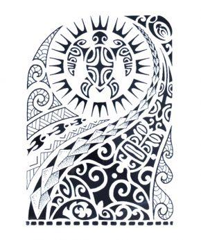 tatuaje temporal maori tortuga solar feel tattoo