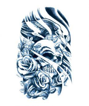 tatuaje temporal rey cuervo feel tattoo