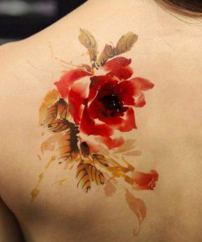 tatuaje temporal rosa tigre modelo feel tattoo