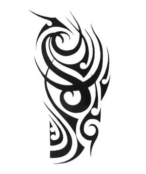 tatuaje temporal tribal feel tattoo
