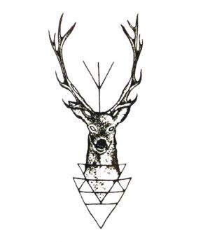 tatuaje temporal ciervo feel tattoo