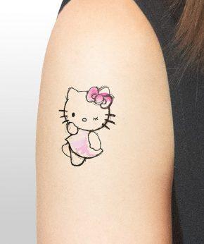 tatuaje temporal hello kitty modelo feel tattoo