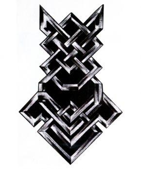 tatuaje temporal alambre negro