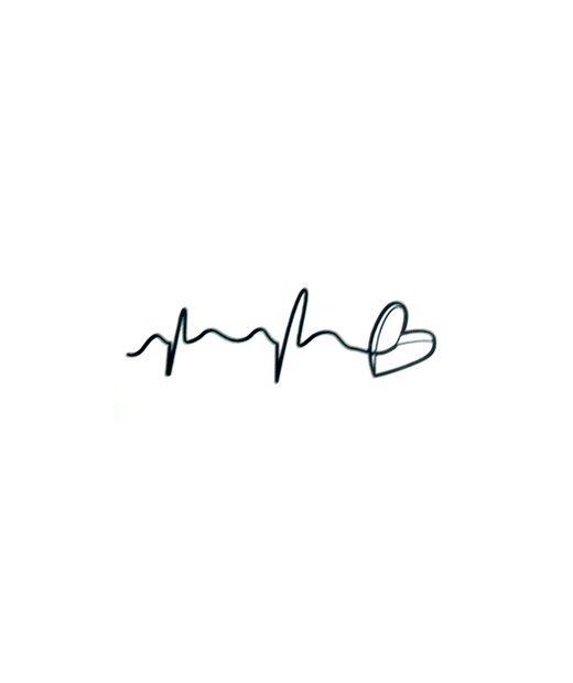 tatuaje temporal corazon hilado