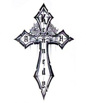 tatuaje temporal cruz kennedeg feel tattoo