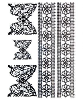 tatuaje temporal mariposa cebra