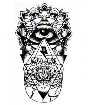 tatuaje temporal ojo deidad