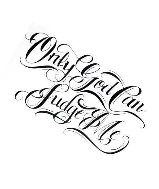 tatuaje temporal only god can judge me