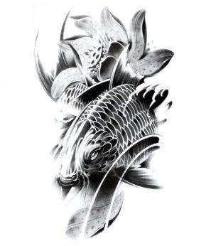 tatuaje temporal pez bagre