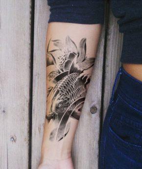tatuaje temporal pez bagre modelo feel tattoo