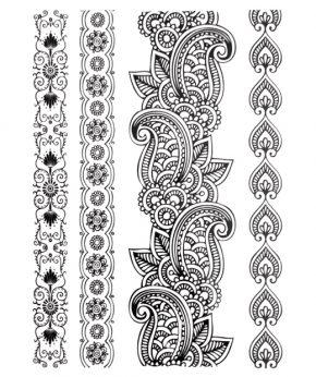 tatuaje temporal tallo mandala